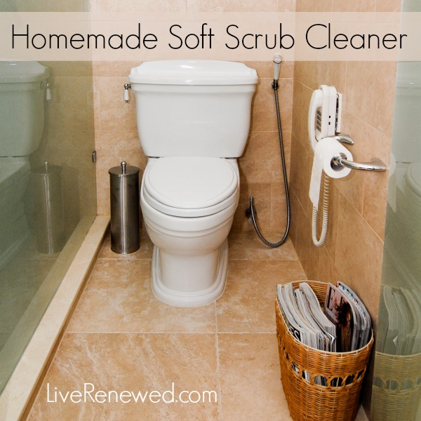 homemade soft scrub cleaner